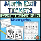 Math Exit Tickets Kindergarten - Counting and Cardinality