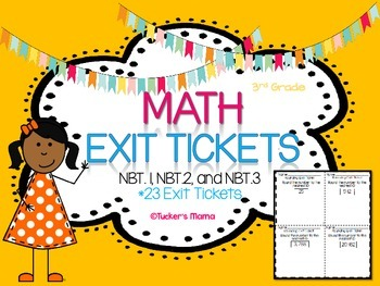 Math Exit Tickets NBT. 1-3