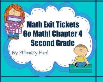 Math Exit Tickets-Second Grade -Go Math! Math Program:2-digit Addition-Chapter 4