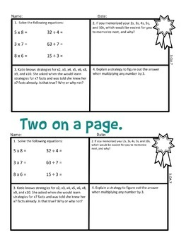 Math Exit Tickets Slips Mini Assessments All 3rd grade common core standards