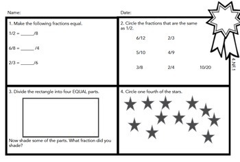 Math Exit Tickets Slips Mini Assessments All 4th grade common core standards