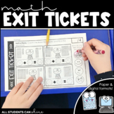 Math Exit Tickets {paper & digital}
