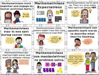 Math Expectations cards