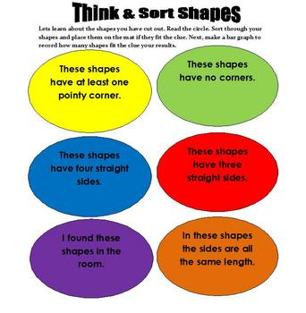 Math: Explore 2D Shapes, classify and make a bar graph