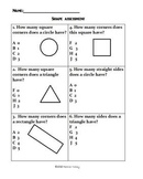 Math:  Exploring 2D Shapes Assessment and Study Guide