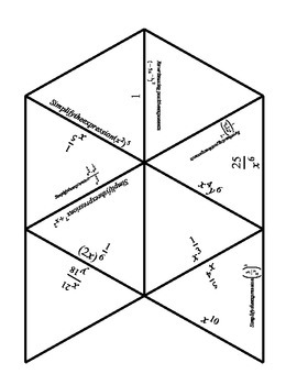 Math - Exponents Review Puzzle