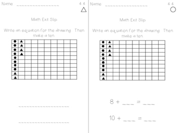 Math Expression Exit Slips - Unit 4