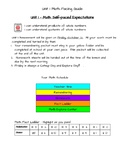 Math Expression's Unit 1 Self Pace Guide