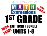 Math Expressions 1st Grade Exit Ticket BUNDLE