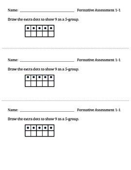 Math Expressions 1st Grade Formative Assessments