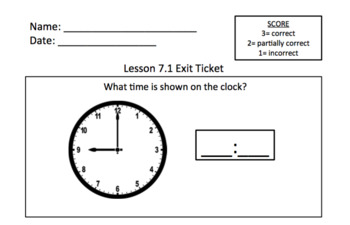 Math Expressions 1st Grade Unit 1 Exit Tickets