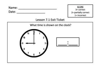 Math Expressions 1st Grade Unit 6 Exit Tickets