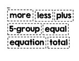 Math Expressions 1st Grade Vocabulary