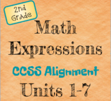 Math Expressions 2nd Grade Common Core Alignment - All Units