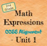 Math Expressions 2nd Grade Common Core Alignment - Unit 1