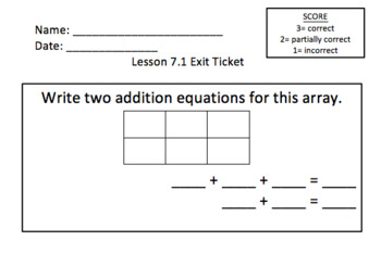 Math Expressions 2nd Grade Exit Tickets BUNDLE