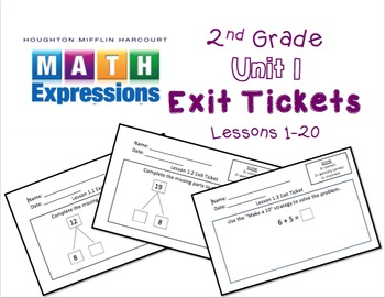 Math Expressions 2nd Grade Unit 1 Exit Tickets