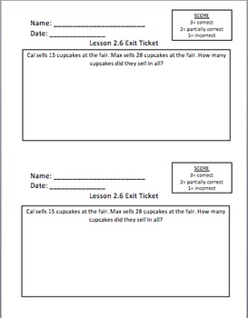 Math Expressions 2nd Grade Unit 2 Exit Tickets   TpT