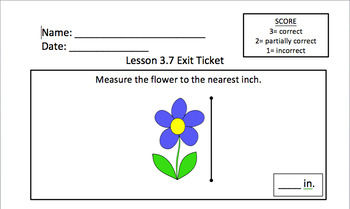Math Expressions 2nd Grade Unit 3 Exit Tickets