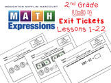 Math Expressions 2nd Grade Unit 4 Exit Tickets
