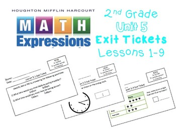Math Expressions 2nd Grade Unit 5 Exit Tickets