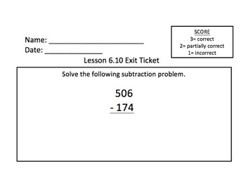 Math Expressions 2nd Grade Unit 6 Exit Tickets
