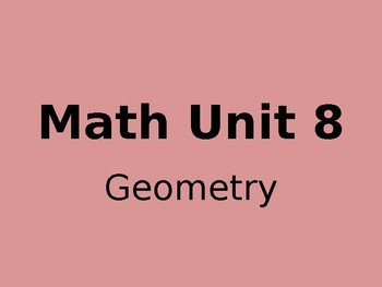 Math Expressions- Grade 4 - Unit 8 - Powerpoint Lessons