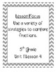 Math Expressions 5th Grade Lesson Focus Pages