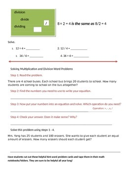 Math Expressions 5th Grade Vocabulary Companion Unit 1