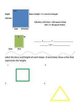 Math Expressions 5th Grade Vocabulary Companion Unit 2 - Perimeter and Area