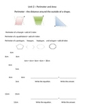 Math Expressions 5th Grade Vocabulary Companion Unit 2 - P