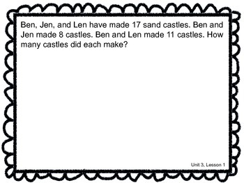 Math Expressions Anytime Problems Grade 5 Unit 3