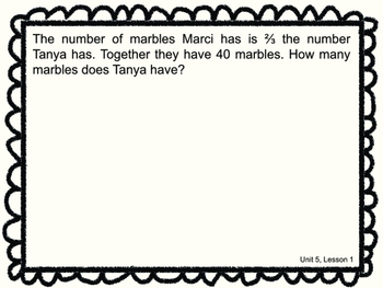 Math Expressions Anytime Problems Grade 5 Unit 5