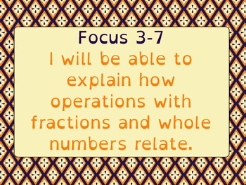 Math Expressions Common Core Learning Goals/Focus 5th Grade Unit 3
