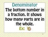 Math Expressions Common Core Unit 1 Grade 5 Vocabulary