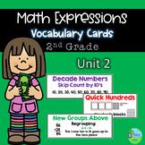 Math Expressions Common Core Vocabulary Cards Grade 2 Unit 2