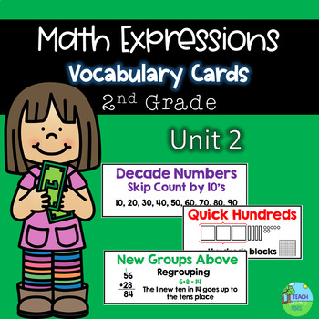 Math Expressions Common Core Vocabulary Cards Grade 2 Unit 2