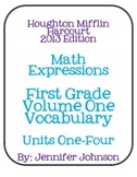 Math Expressions Common Core Volume One Vocabulary Words