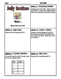 Math Expressions Daily Routines for Third Grade