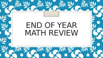 Math Expressions End of Kindergarten Review PowerPoint