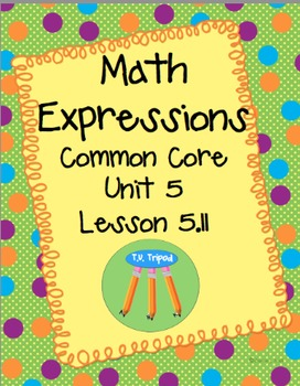 Math Expressions First Grade Lesson Unit 5 Lesson 5.11