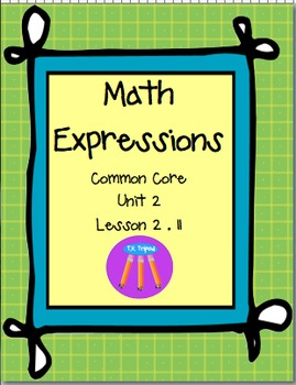 Math Expressions First Grade Unit 2 Lesson 2.11