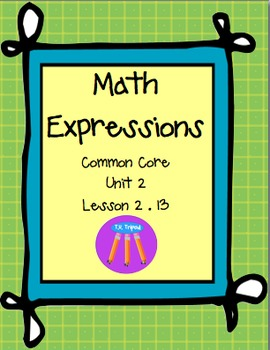 Math Expressions First Grade Unit 2 Lesson 2.13