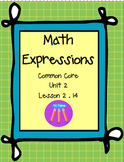 Math Expressions First Grade Unit 2 Lesson 2.14