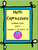 Math Expressions First Grade Unit 2 Lesson 2.15 and 2.16
