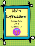 Math Expressions First Grade Unit 2 Lesson 2.2