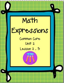 Math Expressions First Grade Unit 2 Lesson 2.3