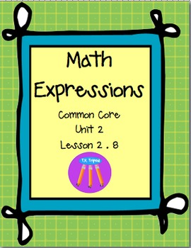 Math Expressions First Grade Unit 2 Lesson 2.8