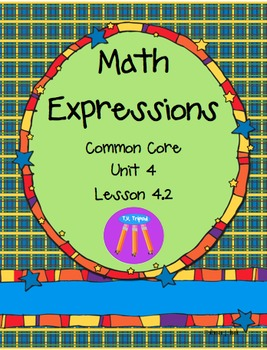 Math Expressions First Grade Unit 4 Lesson 4.2