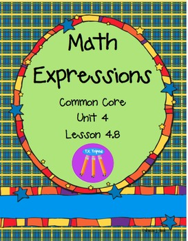 Math Expressions First Grade Unit 4 Lesson 4.8